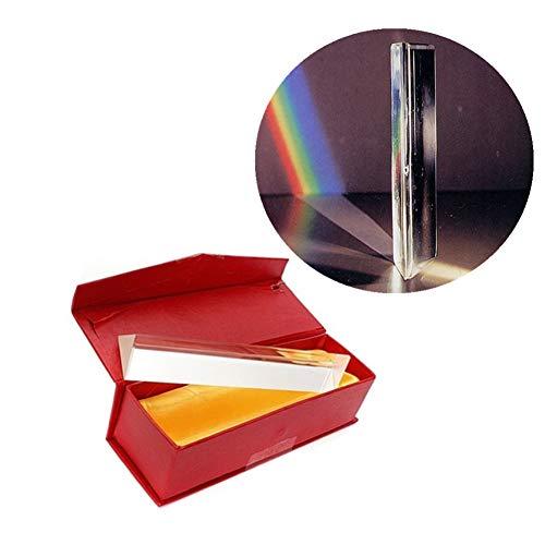 Dayyly Optisches Glas dreieckiges Prisma, 15 cm Refraktor-Kristall, dreifache Prismen-Prisma, für das Lernen von Lichtspektren, Physik, Lichtprismen, Glasprismen und Prismenfotografie