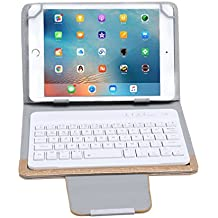 Funda con Teclado Inalambrico Bluetooth para tablet 7in / 8in, color oro