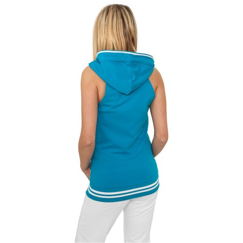 Urban Classics Ladies Hooded French Terry Top Blac Urban Blue