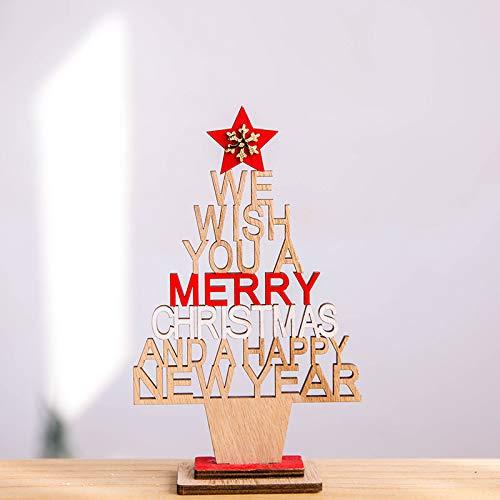 HAPPYLR Dekoration Holz Mini gesegnet Virgin Dan Desktop Baumschmuck Weihnachtsschmuck Requisiten, Trompete