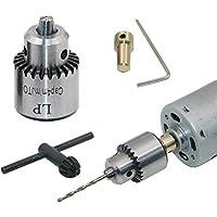 Portabrocas para minitaladro eléctrico, 0,3 - 4 mm, con vástago cónico para montar sobre el motor