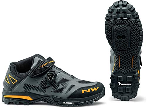 Northwave Enduro Mid MTB Fahrrad Schuhe grau/gelb 2020: Größe: 46