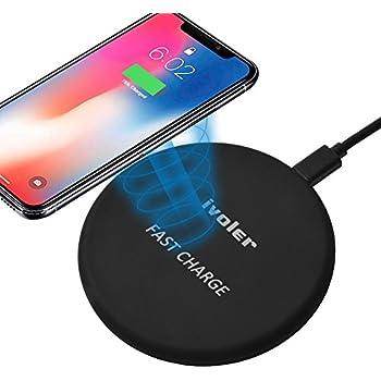 ELEGIANT Chargeur sans Fil, Chargeur Rapide à Induction 10 W pour iPhoneXS XS Max XR 8 8 Plus X