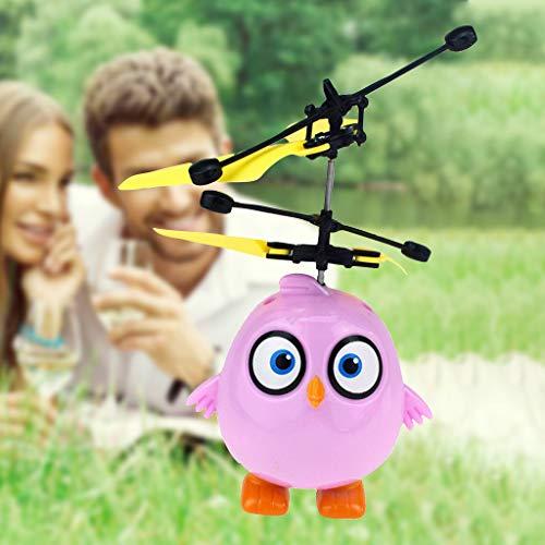 Mitlfuny Kinder Erwachsene Entwicklung Lernspielzeug Bildung Spielzeug Gute Geschenke,Elektrisches Infrarotsensor-Fliegen-Ball-glückliches Vogel-Hubschrauber-LED-Licht
