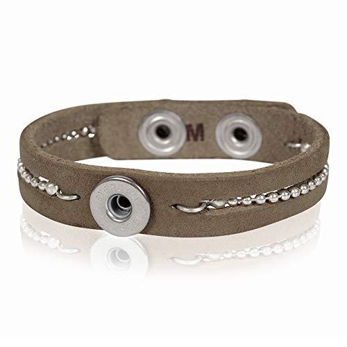 NOOSA PETITE Armband TALISMANN BALLCHAIN grey Größe M