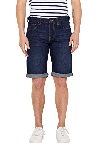 edc by ESPRIT Herren 049CC2C011 Shorts, Blau (Blue Dark Wash 901), W(Herstellergröße: 28)