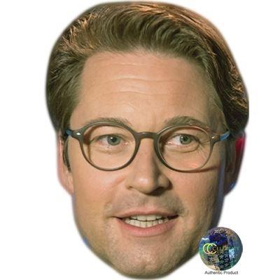 Andreas Scheuer Maske aus Pappe