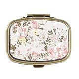 Pillendose - Old Tumblr Vintage Beautiful Floral - Dekorative Pillendose mit Geschenk-Box - Tasche,...