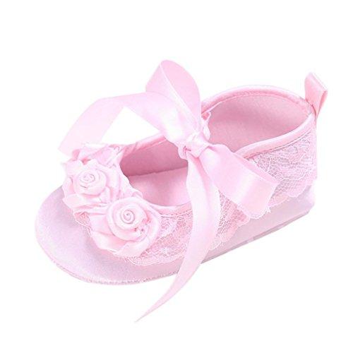 Omiky® Moda 2017 Sapatos De Bebê Berço Menina De Flores Recém-nascido Macio Únicos Sapatilhas Do Bebê Anti-derrapantes Rosa