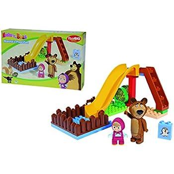 Big - 800057092 -  Playbig Bloxx Masha et Michka - Jeu de Construction - Jardin de Michka L'Ours