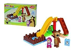 800057094 Masha Costruzioni 29 pz piscina e scivolo