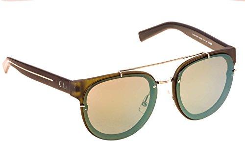 Dior Homme Lunettes de soleil Blacktie 143S Cut Pour Homme Khaki / Black / Yellow, Green Gradient Mirror