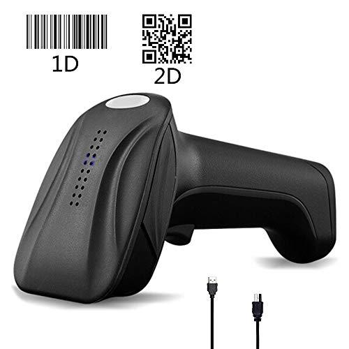 EJOYDUTY 1D & 2D QR USB Kabel Strichcode Scanner, Portabler CCD PDF417 Datenmatrix Barcodeleser, für Geschäft, Supermarkt, Lager, für mobiles Bezahlen Computerbildschirm