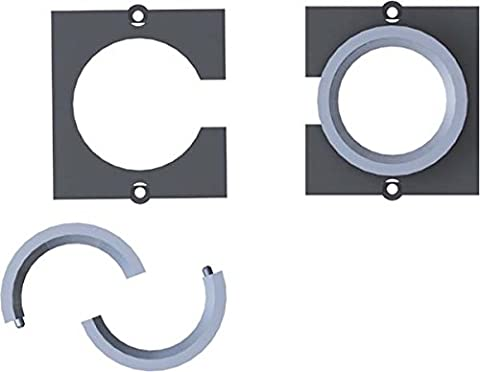 Bachmann Custom - 1xCable pipe (Big 2-part cable bushing module), 221042 (2-part cable bushing module) for cable till 24mm (e.g. VGA) - w/o Cable - w/2 screws)