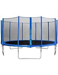 SixBros. Sixjump 4,60 M Trampoline de jardin bleu Certifié par Intertek / GS - Filet de sécurité TB460/2217