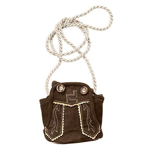 Designer Trachten-Leder-Tasche klein FRANZL braun: Farbe: braun | Größe: uni size