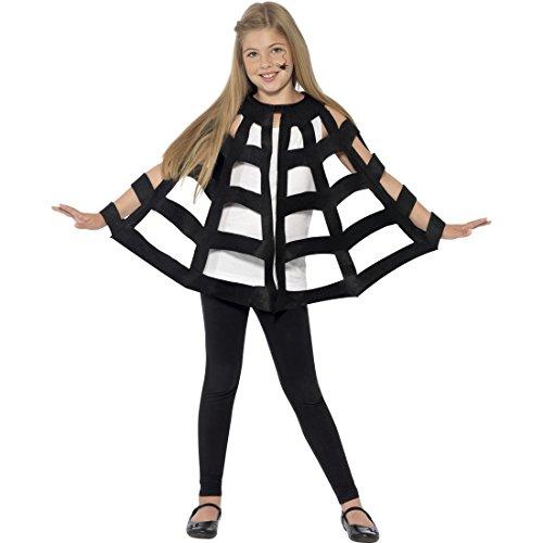 NET TOYS Spinnenkostüm Kinder Halloween Spinnenumhang Spinnen Cape Unisex Kostüm Spinne