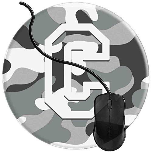 Mauspad Buchstabe C Militär Camo Camouflage Pattern Monogram, Runde Gaming Mauspad Matte Reibungslos Weich Rutschfester Gummi Basis für PC Laptop 1U2584