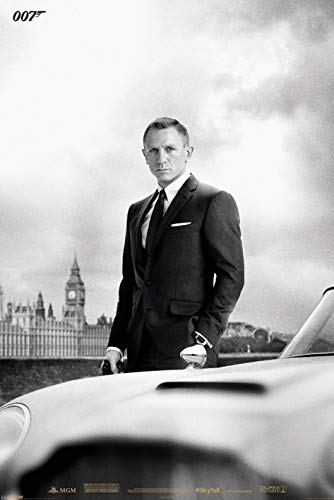 James Bond (Bond & DB5-Skyfall Maxi Poster, Multicolore, 61 x 91,5 cm