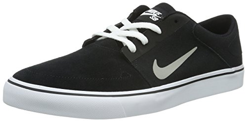 Nike Sb Portmore, Baskets Basses Homme Noir (Blk/Mdm Gry-White-Gm Lght Brwn)