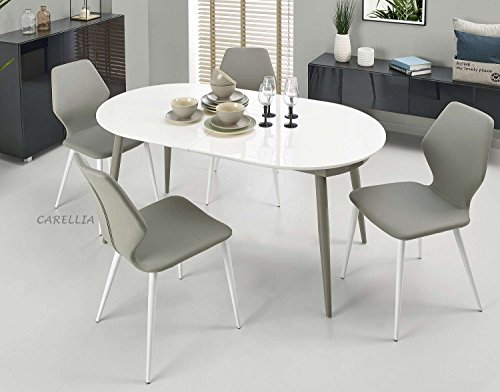 CARELLIA Table A Manger Ovale Design Extensible 160÷200 CM x 90 CM x 76 CM