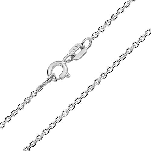 Bling Jewelry Sterling Silver 040 Gauge rotonda link Rolo Catena