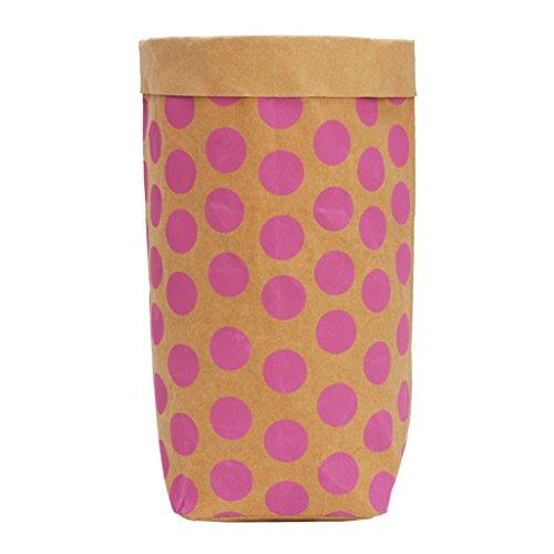 Xuniu Waschbar Kraft Paper Bag Pflanze Blumen Töpfe Multifunktions Tasche für die Home, Kraft-Papier, Rose, 11.5x23x29.5 cm