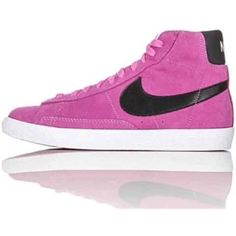 Nike BLAZER MID VINTAGE Scarpe da Moda Sneakers Rosa Nero per Donna
