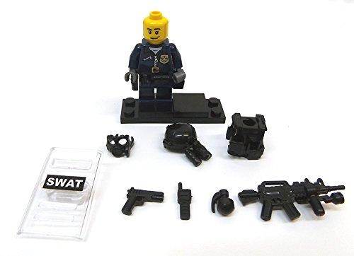 Modbrix 8236 – 2 Stück Custom SWAT Minifiguren aus original Lego© Teilen - 4