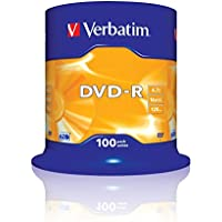 Verbatim 43549 4.7GB 16x DVD-R Matt Silber - 100 Pack Spindel