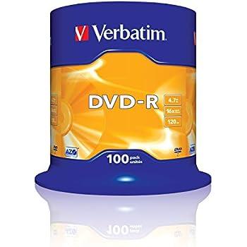 Verbatim 43549 4.7GB 16x DVD-R Matt Silver - 100 Pack Spindle