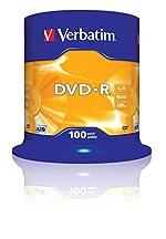 Verbatim 43549 4.7Go 16x DVD-R Matt Silver - 100 Pack Spindle