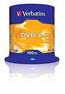Verbatim (43549) : DVD-R 16x 100-pack :  Optical Media
