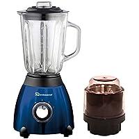 Luminate Blender 500W con jarra medidora de vidrio de 1.5L y amoladora - Azul