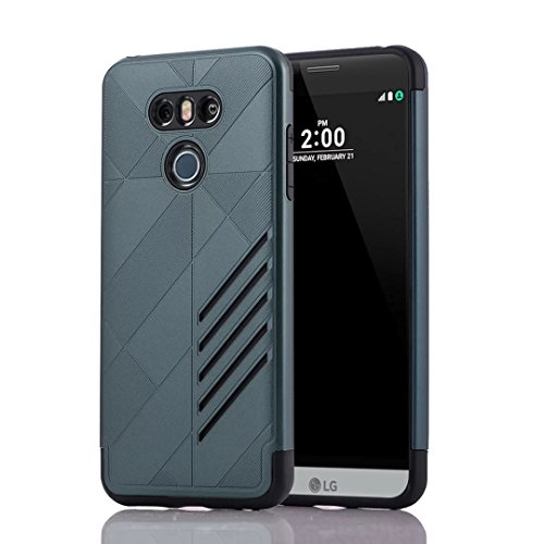 YHUISEN LG G6 Case, 2 In 1 Armor Tough Style Hybrid Dual Layer Armor Defender PC + TPU Schutzhülle für LG G6 ( Color : Rose Gold ) Navy Blue
