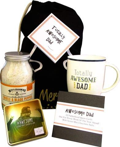 Awesome Dad. Luxury Christmas Pamper Sack To Show Dad He�s Loved And Appreciated