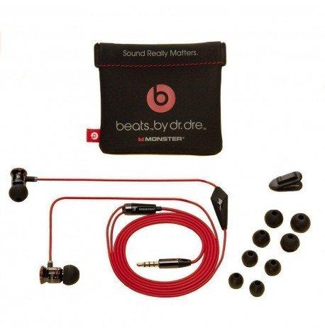 iBeats by Dr. Dre In-Ear-Kopfhörer Vollmetall schwarz rot 3,5mm Klinke