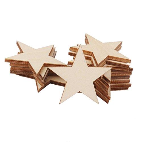 ge Holzverzierungen zum Basteln, 50 mm, Halloween, Weihnachten, Erntedank, Dekoration, Geschenk ()
