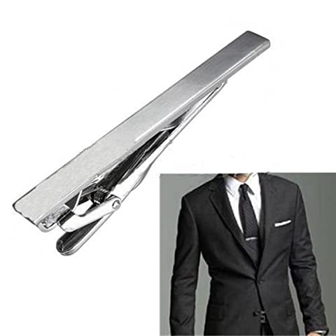 Stainless Steel Metal Simple Necktie Tie Bar Clasp Clip Clamp Pins Sliver Color by erioctry