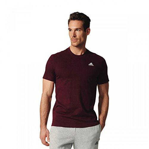 adidas Herren Essentials Base T-Shirt Maroon/White