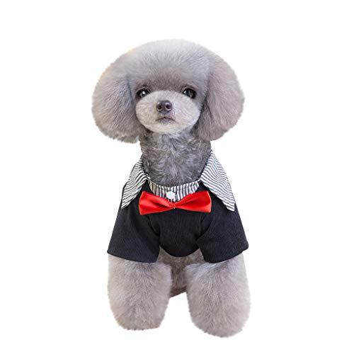 TUDUZ Hochzeitsanzug/-Kleidung, Kleine Hund, Smoking-Kostüme, Formelle Party-Outfits, passt Chihuahua, Pudel, Pommern, Yorkshire Terrier, Bichon Frise, Cocker Spaniel(X-Small,Rot)