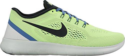 Nike Free Rn, Sneakers Basses Homme Vert (Ghost Grn/black-bl Mn-pr Pltnm)