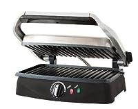 Chefman RJ02-V2 Contact Grill and Panini Press, Silver