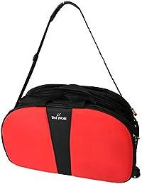 Top Quality Travel Duffel Bag, Lightweight Waterproof Luggage, Trolley Bag With Roller Wheels -Black + Orange...