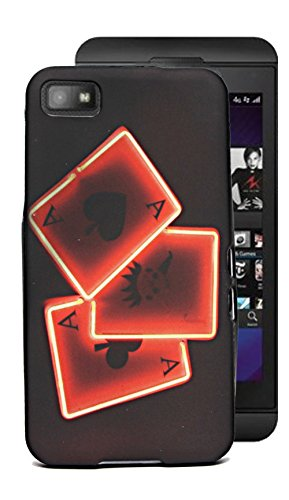 ECellStreet Exclusve Printed Soft Back Case Cover Back Cover For Blackberry Z10 Z 10 -Cards  available at amazon for Rs.149