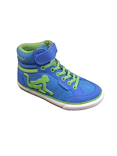 DrunknMunky Jungen Boston Vitaminix Tennisschuhe ROYAL LIGT GREEN
