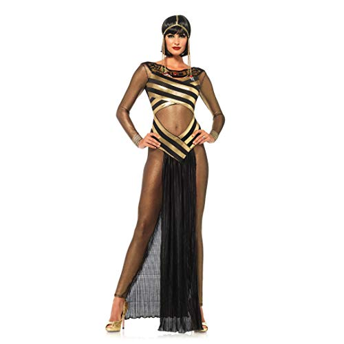 GAOJUAN Halloween Kostüm Karnevals Adult Cosplay Griechische Göttin Königin Golden Mesh Dress
