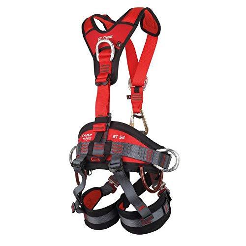 Yfcle imbracatura anticaduta con aggancio dorsale lavoro alpinismo, corda poliammide di sicurezza, moschettoni di sicurezza per fuoco salvataggio