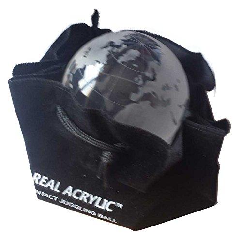Acrylkugel Globus fuer Kontaktjonglage durchsichtig 80mm 350g mit Aufbewahrungstasche