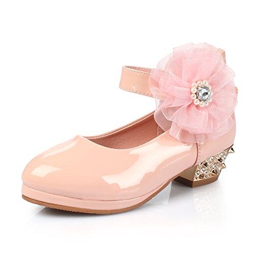 Wuyulunbi@ Performance Schuhe für High Heels und Kinder Dance Schuhe, 26 interne Länge 16,5 cm, weiß